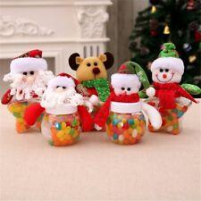 Christmas Candy Bottle Jar Storage Sweet Gift Box Santa Jar Container-Decor