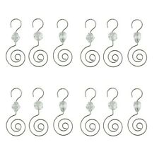 HOHIYA Christmas Ornament Hooks Hangers with Acrylic Gem 2.5inch(Silver pack ...