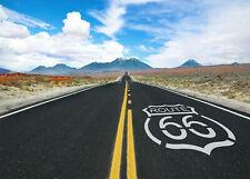 7x5ft Route 66 America West Landscape Clouds Sky Vinyl Backdrop Photo Background