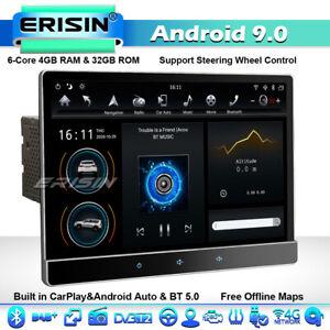 "12.2"" CarPlay Rotatable Double Din Car Stereo GPS Sat Nav DSP BT 5.0 Android 9.0"