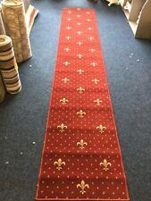 Red Designed Whipped Wilton Carpet Runner, 334 X 60cm
