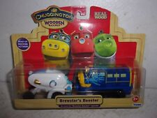 Chuggington Wooden Railway - Brewster's Booster - Wind-Up Rocking Action - NIP