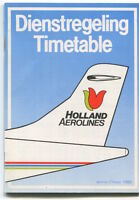 HOLLAND AEROLINES TIMETABLE WINTER 1986 NOMAD ATR-42 SEAT MAPS