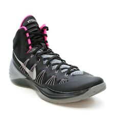 Nike Hyperdunk Men's 12 (46) Black Silver Pink High Top 2013 Basketball Sneakers