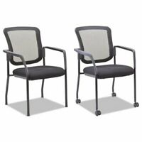 Alera Mesh Guest Stacking Chair, Molded Foam Seat, Black (ALEEL4314)