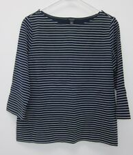 Ann Taylor Women's Textured Stripe Boatneck Top Large  NWT