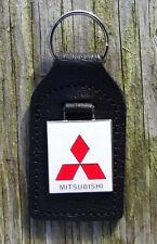 MITSUBISHI CLASSIC CAR KEY RING, LEATHER FOB