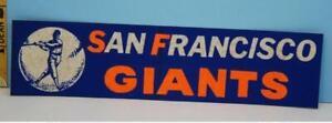 Vintage San Francisco Giants Baseball Bumper Stickers