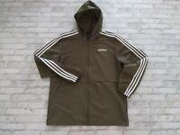 Adidas Originals Men's Long Sleeve Full Zip Hooded Breaker Jacket Olive Green M