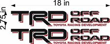 TOYOTA TRD Off Road / PAIR / Vinyl Vehicle Truck Replacement Decal Stickers