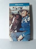 Boots and Saddles (VHS 1992) starring Gene Autry - 1937 Western Movie