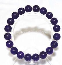 stretch bracelet 7.5 inches C3118 Beautiful 10mm deep purple amethyst bead