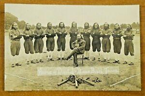 1920's House of David Baseball Team Crystal Clear Photo Postcard