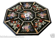 3'x3' White Marble Dining Room Table Marquetry Inlay Mosaic Arts Garden Decor