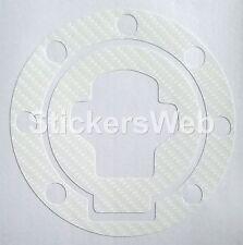 Adesivo Tappo Serbatoio SUZUKI GSXR 1300 Hayabusa 99-05 (Carbonio Bianco) C.0518