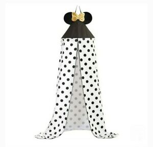 NEW Minnie Mouse Bed Canopy  One Size Sold out everywhere! Black White Polka dot