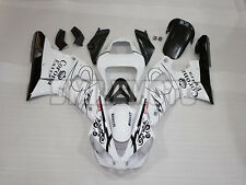 Fairing Glossy White Black Injection Plastic Kit Fit for 2000-2001 Yamaha YZF R1
