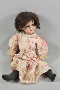 k49i05- Alte Armand Marseille Porzellankopf Puppe mit Schlafaugen
