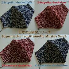 MUNDSCHUTZ Seigaiha Karakusa Tradition Behelfsmaske japanische Handarbeit JAPAN!