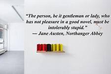 Vinyl Wall Decal Sticker Room Decor Saings Quotes Inspiring Jane Austen F2000