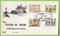 G.B. 1981 Folklore set on Havering First Day Cover, Little Dunmow