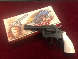 Vintage Firecat 100 Shot Repeating Toy Cap Gun Mint In Box