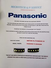 PANASONIC TX-40AX630B STRIP NUMBER 400TV04 V5 400TV05 V5  10 PIECE FLIP LED KIT