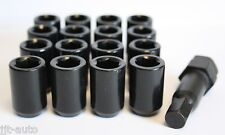 16 X M12 X 1.5 BLACK TUNER SLIMLINE WHEEL NUTS FIT HYUNDAI ACCENT AMICA COUPE