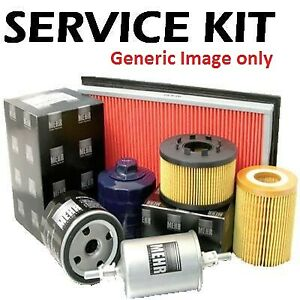 Fits Clio 1.2 16v Petrol 06-13  Plugs, Air & Oil Filter Service Kit 3pce