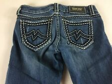 Miss Me Jeans Womens 27 Tall Long Sunny Straight 30.5 x 34 Actual Thick Stitch