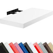 """stilista Wall Shelf """" volato """" CD DVD Rack 70cm White Free-Floating"""