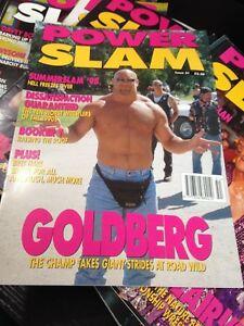 WWE Power Slam Magazine # 51 GOLDBERG WWF Wrestling Magazine + Poster