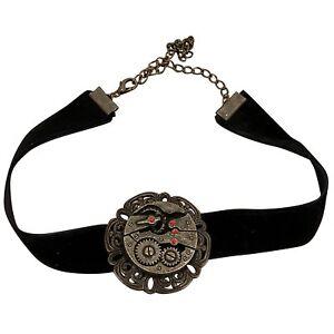 Steampunk Antique Black Velvet Gear Choker (Museum Replicas Limited)