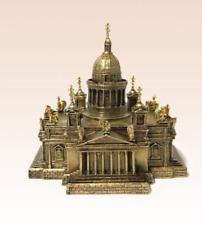 Miniature Bronze Figurine temple Cathedral sculpture art manual processing rare-