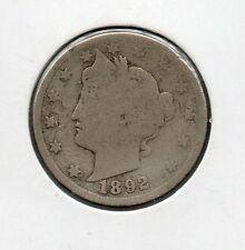 Nice Early Year 1892 V-Nickel Great Collector coin Buy it Now