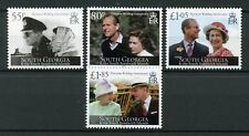 South Georgia & Sandw Isl 2017 MNH Queen Elizabeth II Platinum Wedding 4v Stamps