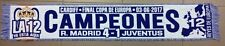 SCARF REAL MADRID 4  vs JUVENTUS 1 FINAL CHAMPIONS LEAGUE CARDIFF BUFANDA