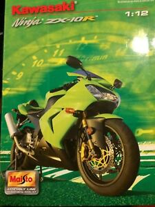 Maisto Kawasaki Ninja ZX-10R Model Kit 1:12- New SEALED- ORANGE-FREE SH