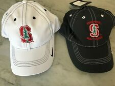 Lot of 2 Nwt Hats Nike Tech Dri Fit Stanford Golf Course Tiger Woods Black White