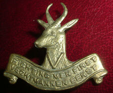 CAP BADGE-WW1 RARE OFFICERS 5th SOUTH AFRICAN INFANTRY HELMET BADGE 1916-18 ONLY