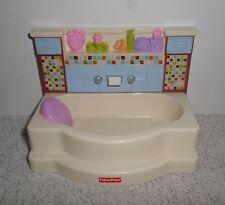 Fisher Price Loving Family Dollhouse Bathroom Tile Tub
