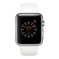 Apple Watch Series 2 - 42mm, WiFi - Stainless Steel with White Sport Band