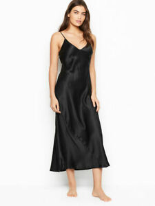 BNWT Victoria's Secret Black Pure Silk Slip/Petticoat full length Sz XS RRP £109