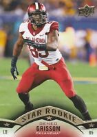 2015 UPPER DECK FOOTBALL GENEO GRISSOM LB OKLAHOMA (PATRIOTS) STAR ROOKIE #132