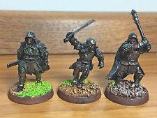 Warhammer LOTR Uruk-hai captain with 2 warriors