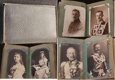 Altes Postkarten Album Adel / Adelshäuser Kaiserreich mit 86 Ansichtskarten