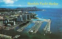 Postcard Honolulu Yacht Harbor Hawaii