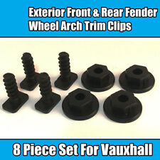 8x Piece Set For Vauxhall Exterior Fender Wheel Arch Trim Clips Corsa C Black