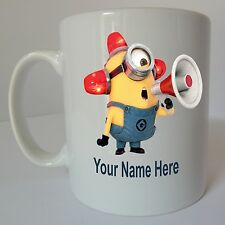 DESPICABLE ME Personalised Minion Mug Birthday Christmas Gift Present Design M