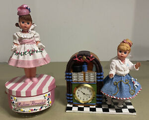 Madame Alexander 1950s sock hop music boxes lot/2 classic collectibles